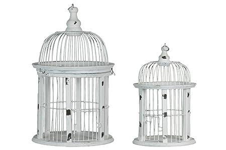 Urban Trends - Jaula Redonda para pájaros (2 Unidades), Color ...