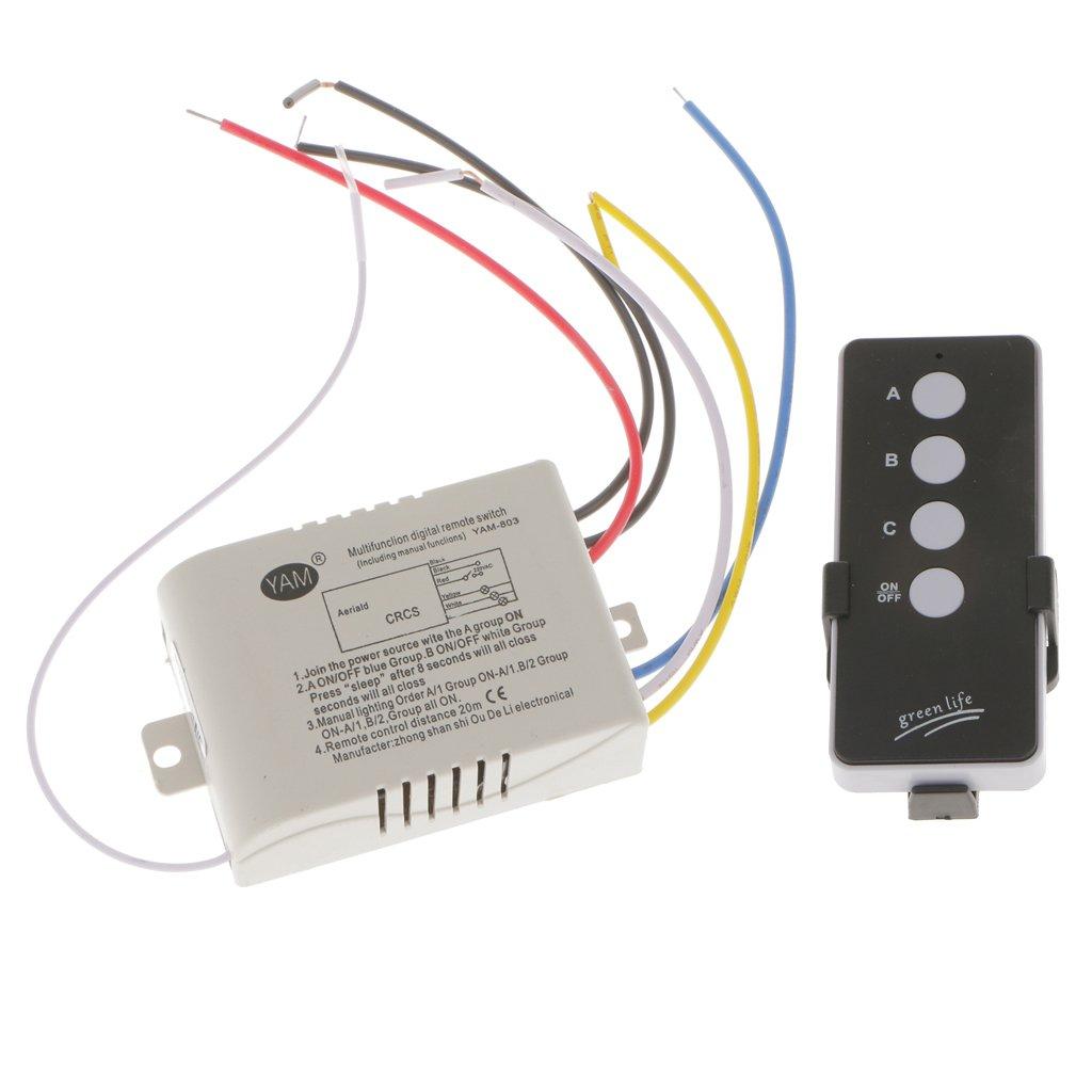Gazechimp 3-Kanal Funk Lichtschalter Lampe Schalter mit ...