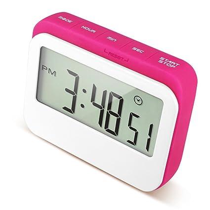 Caoku - Reloj digital de cocina con temporizador de cuenta atrás, pantalla grande de color
