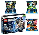 Lego Dimensions Magical Starter Pack + Harry Potter Team Pack + Fantastic Beasts Tina Goldstein Fun Pack + The Wizard Of Oz Fun Pack for Xbox 360 Console