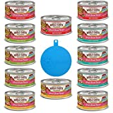Merrick Whole Earth Farms Grain Free Small Breed Recipe for Dogs in 4 Flavors - Chicken, Beef, Lamb, Duck Stew (12 Cans Total, 3.2 Oz Ea) Plus 1 Silicone Pet Food Can Cover - 13 Items Total