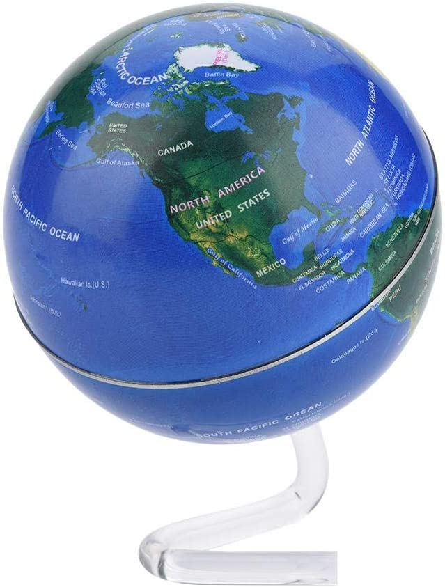 02 Blue Silver Earth terrestrial globe with Stand for Kids /& Adults 2 colors Stationary Political Earth Globe Table Decor Geograph GLOGLOW Duevin Desktop Rotating World Globe