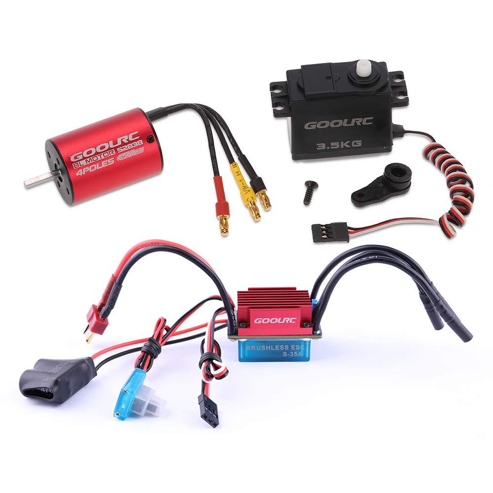 GoolRC GoolRC S2838 4500KV Brushless Motor 35A ESC 3.5kg Servo Combo Set for 1/12 1/14 RC Car