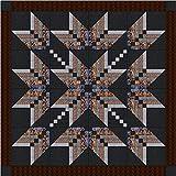 Easy Quilt Kit Exploding Star Neutral 3D/Queen
