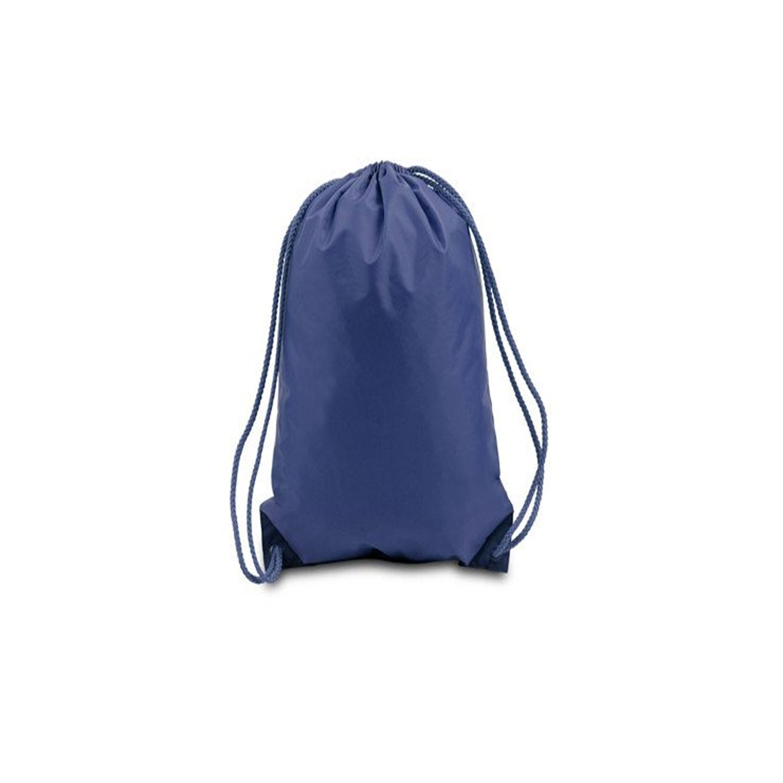 [PACK OF 25] Bulk Polyester Drawstring Bags, Wholesale Cinch Bags, Quality Sack Packs (Medium (15''W x 18''H), Navy)