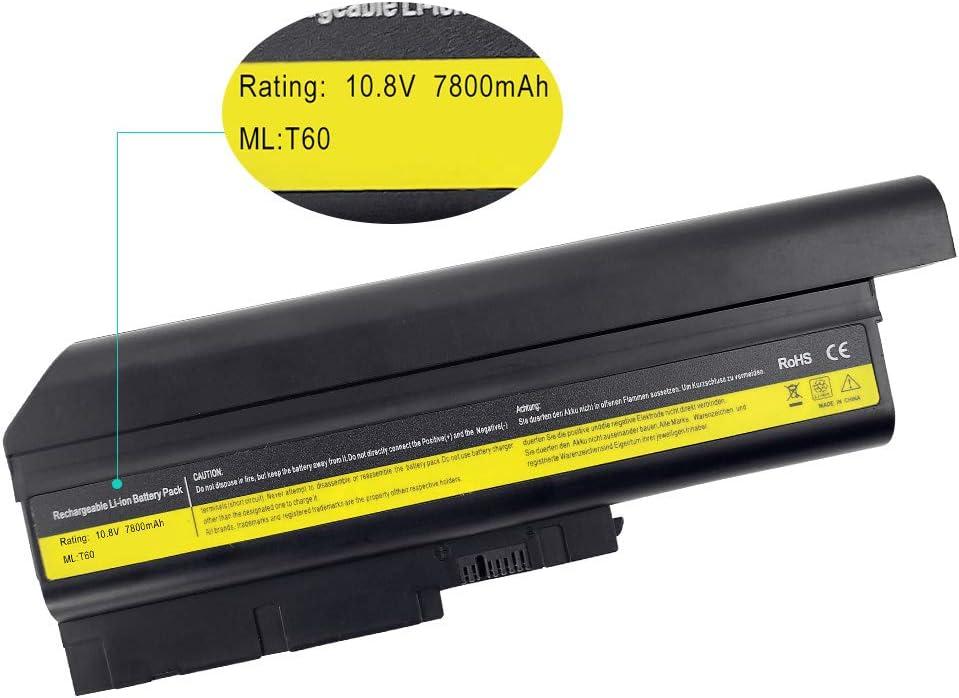 LQM 10.8V 7800mAh New 40Y6797 Laptop Battery for Lenovo IBM ThinkPad T60 R60 R500 W500 T500 SL300 SL400 SL500 40Y6795 42T4619 42T4620 92P1133