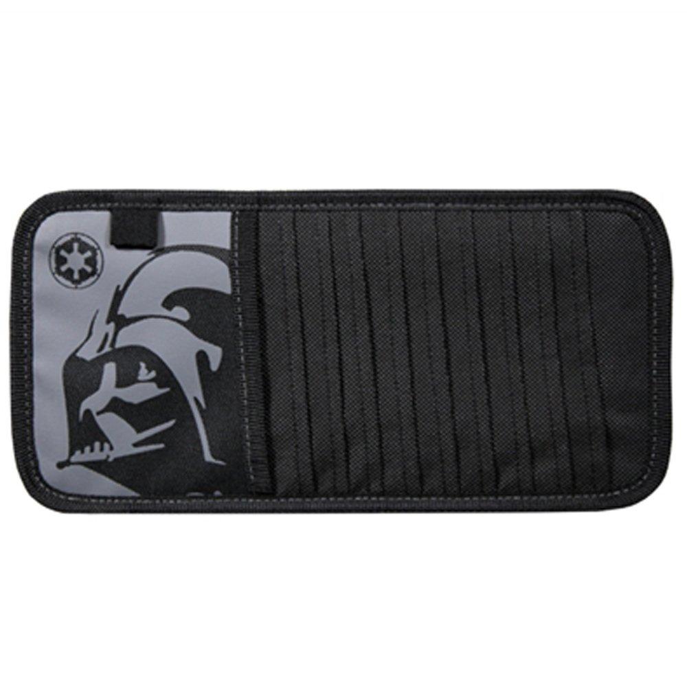 Darth Vader Head Mask Villain Cartoon Character Movie Comics Star Wars 10 CD/DVD Car Truck SUV Visor Organizer