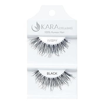 93525c1cb71 Amazon.com : Kara Beauty Human Hair Eyelashes - WISPY(Pack of 6) : Beauty