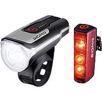 SIGMA SPORT - Led-fietsverlichtingsset Aura 80 en BLAZE | toegelaten op batterijen voor- en achterlicht met remfunctie.