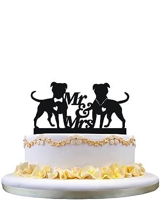 Amazon.com: Wedding Cake Topper- Monogram Mr & Mrs Cake Topper ...