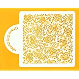 PAISLEY STENCIL for cake decoration, crafts, DIY projects by ORIENT GIFT DESIGN