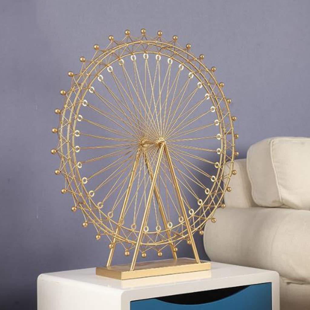 ロマンチックな観覧車の装飾の居間のデスクトップの鉄の装飾の家の柔らかい装飾 (Size : C) C  B07SZRZZ4X
