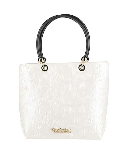 selezione migliore 141aa 65c82 Wonderbag Borsa a mano bianca made in Italy: Amazon.it ...