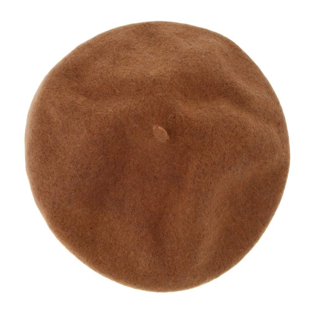 Baoblaze Damen Baskenm/ütze K/ünstler Wolle Franzosenm/ütze M/ütze Wollbasken Baske Beret Cap Kopfbedeckung f/ür Herbst Winter