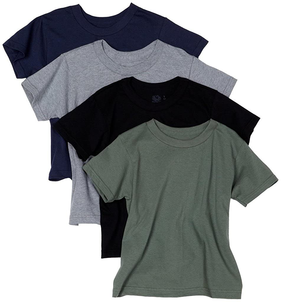 Fruit of the Loom Boys 4Pack Boys Kids Asstd Crew-Neck T-Shirts Undershirts 4P525C