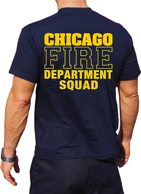 b5e8b5a5 Chicago Fire Department T-Shirt - Squad Company: Amazon.co.uk ...