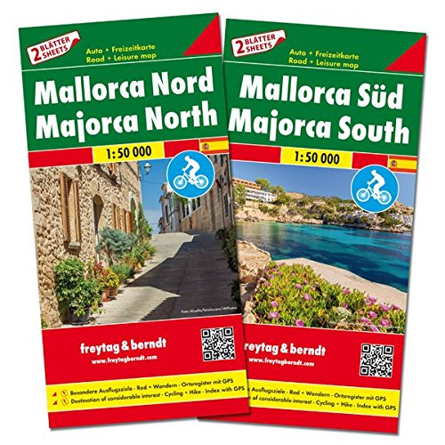 Mallorca norte y sur. 2 mapas. Escala 1:50.000. Freytag & Berndt.: Set wegenkaarten 1:150 000 (Auto karte)