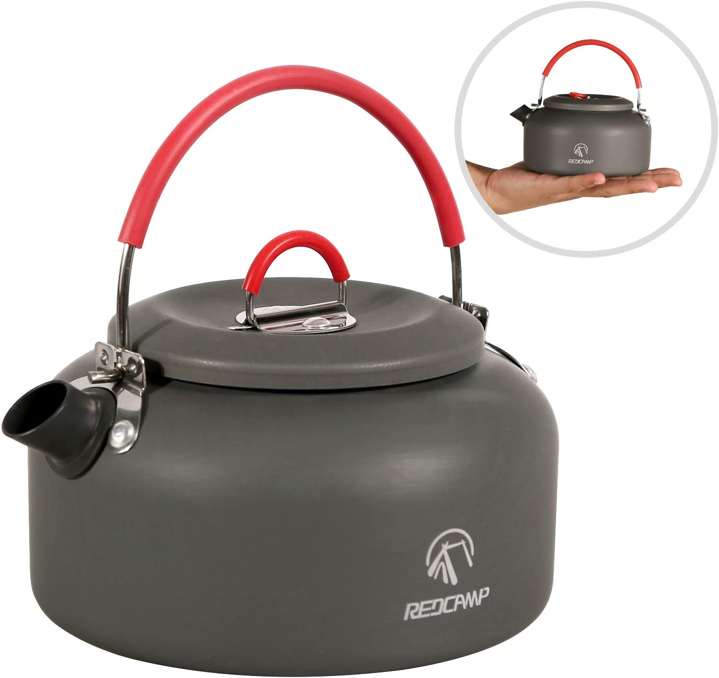 REDCAMP 0.8L/0.9L/1.4L Outdoor Camping Kettle