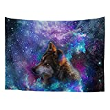 Nopersonality Wall Tapestry Space Galaxy Wolf Starts Night Wall Hanging Home Bedroom Living Room Dorm Decor Tapestries Art Sets, Large