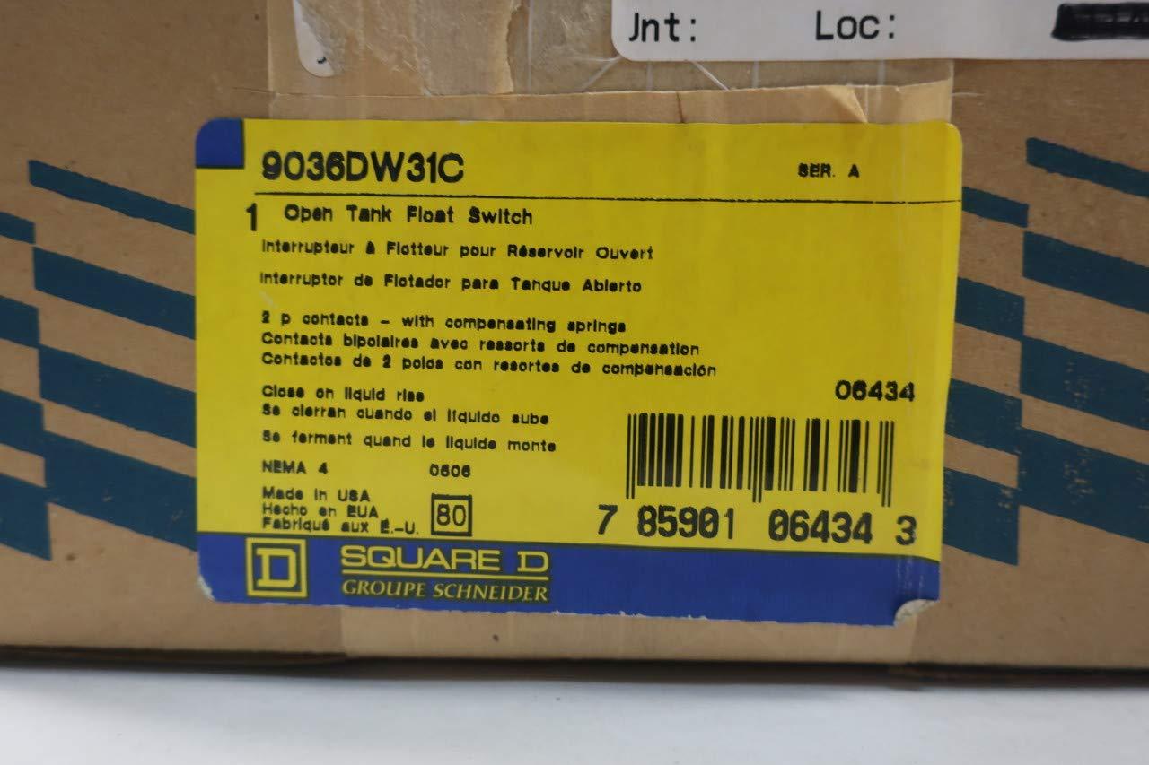 Amazon.com: SQUARE D 9036DW31C Float Switch 230/460V-AC D646206: Industrial & Scientific