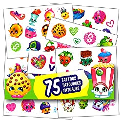 Shopkins Tattoos - 75 Assorted Temporary Tattoos