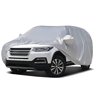 Audew Car Cover SUV Cover Car Snow Cover UV Protection/Waterproof/Windproof/Dustproof/Scratch Resistant Outdoor Full Car Covers for SUV Car XXL (201''-212''): Automotive