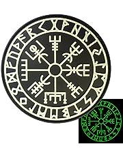 2AFTER1 Glow Dark Vegvisir Viking Compass Norse Rune Morale Tactical PVC Rubber 3D Vastener Patch