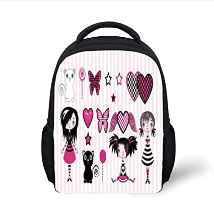 38f66a9eb470 Amazon.com: iPrint Kids School Backpack Teen Girls Room Decor,Young ...