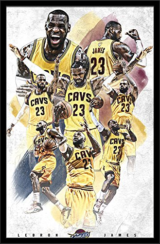 Framed Cavaliers Wall (Trends International Cleveland Cavaliers Lebron James Wall Poster 22.375