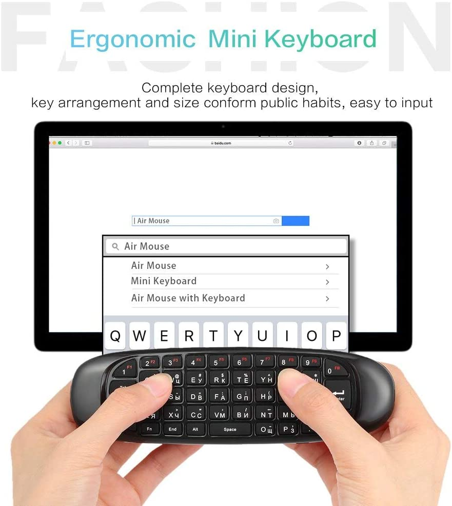 Calvas French Version 2.4G Air Mouse Wireless Keyboard Remote Control 6-Axis Motion Sensing for Smart TV Android TV BOX PC