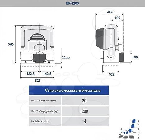 CAME BK 1200 Motor 230V para puertas correderas - Kit S: Amazon.es: Bricolaje y herramientas