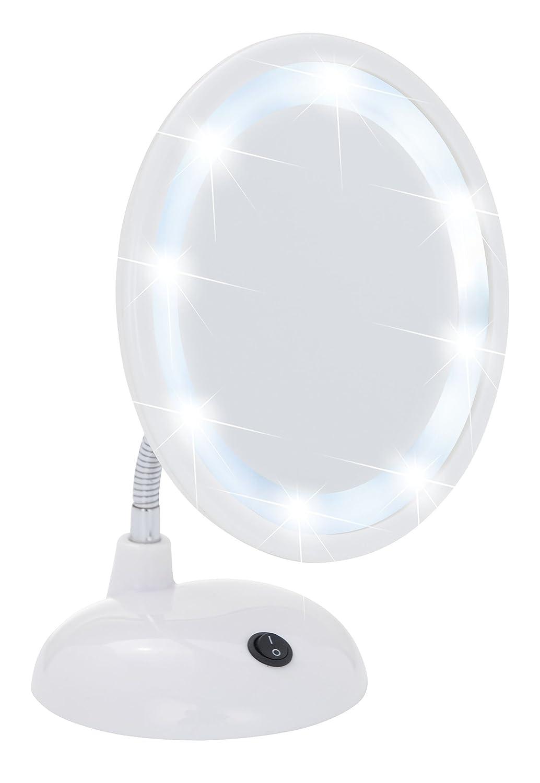 Wenko 3656441100 Miroir sur Pied Cosmé tique Style Grossissement x3 Blanc