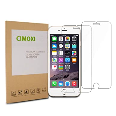 4a957ade4ede18 CIMOXI Screen Protector Compatible for iPhone 8 iPhone 7, Premium HD Tempered  Glass Film Compatible