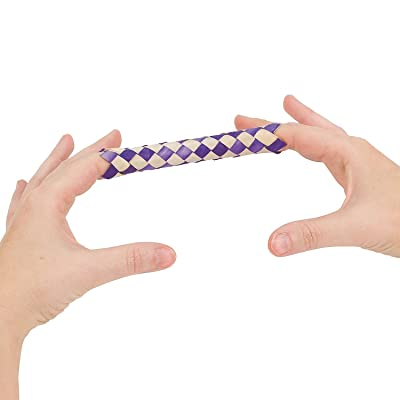 Bamboo Finger Traps (12 Pack) Assorted Colors.: Toys & Games