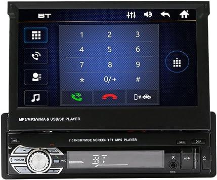 Ahomi SWM 9601G - Radio estéreo para Coche (Bluetooth, 7 Pulgadas, MP5, GPS, FM, con Tarjeta de mapas y cámara): Amazon.es: Electrónica
