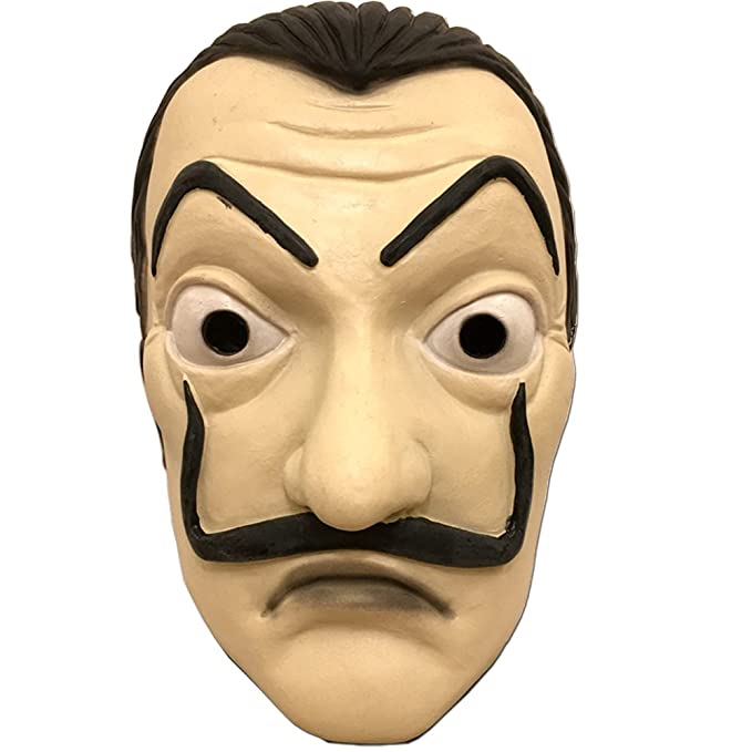 baellerry La Casa De Papel Dali Mask Realistic Movie Prop Halloween Costume Latex Mask (DALI
