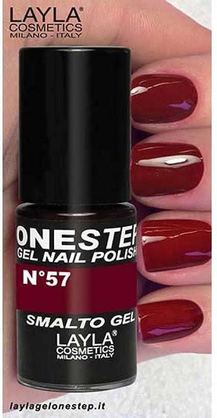 Layla Cosmetics One Step Gel Esmalte de Uñas, bellissimo Red, 1er Pack (1 x 5 ml): Amazon.es: Belleza