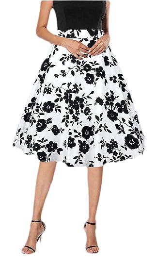Falda Vintage de Seguridad para Mujer con diseño Floral de la ...
