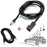 Valuetom Auto AUX Audio Adapter Kabel Für BMW 16:9 CD Wechsler,Fit für BMW E46 E39 E53 und Mehr Farbe Schwarz