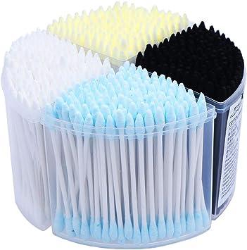 Frcolor 500 unids desechables bastoncillos de algodón aplicador de ...