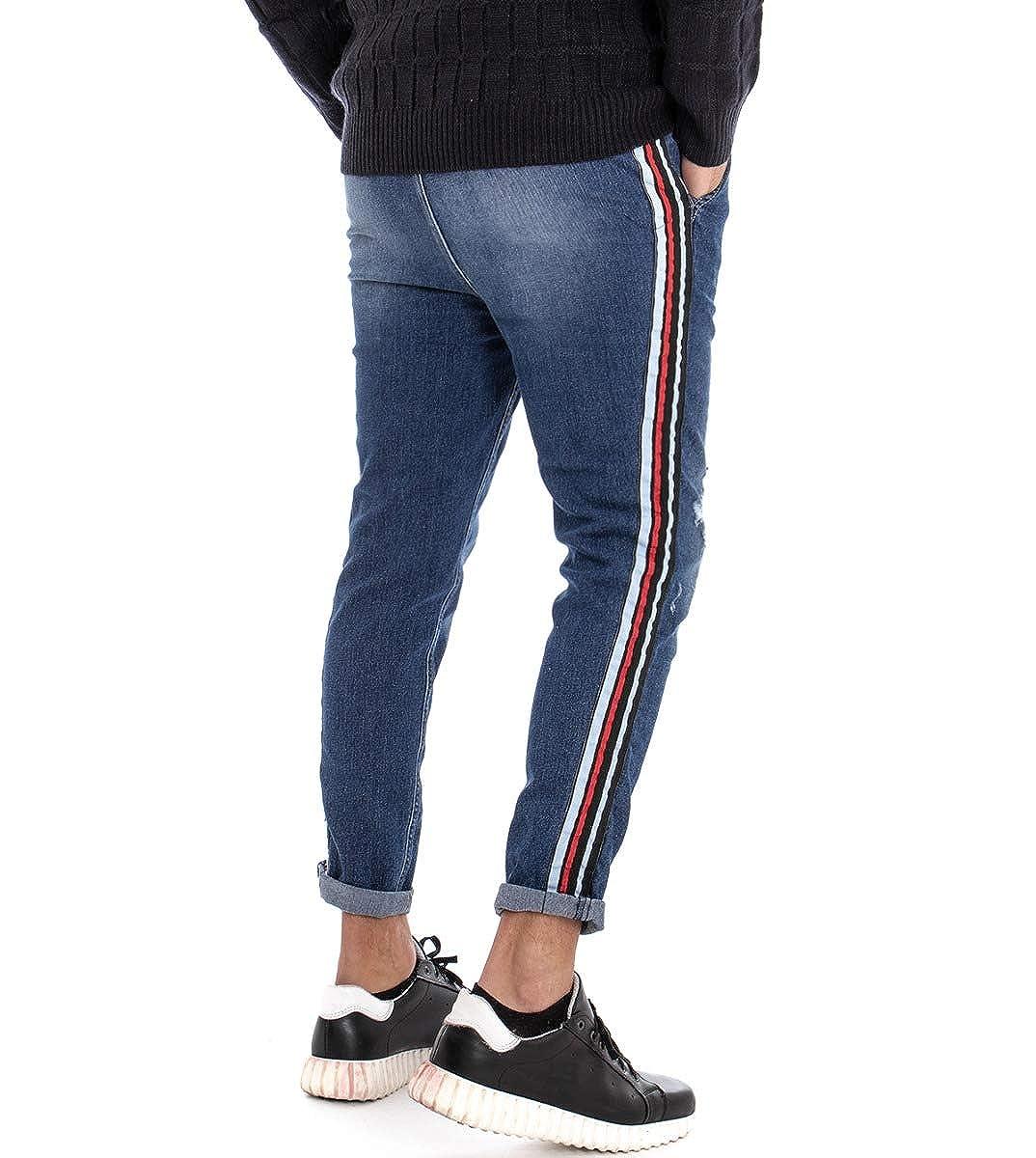 Giosal Completo Uomo Outfit Giubbotto Bomber Rosso Panta