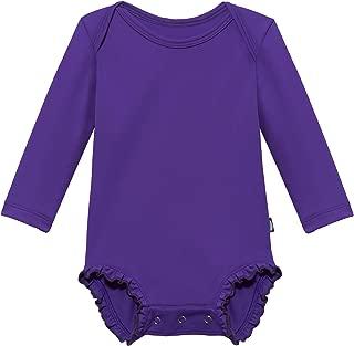 product image for City Threads Girls' Long Sleeve One Piece Ruffle Rash Guard Sun Swimming Tee - Made in USA