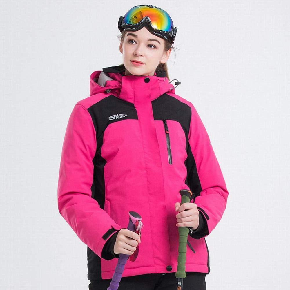 GZ Jacke Skianzug Frauen Atmungsaktiv Verdicken Warme Winddichte Wasserdichte Outdoor Sports Plus Samtjacke
