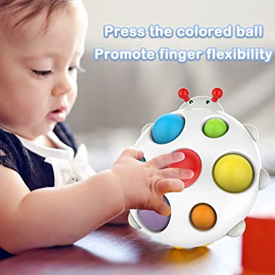 Stress Relief Sensory Fidget Toy for Adults and Kids Silicone Sensory Toy Turtle Flipping Board Including Rattle for Free lEPECQ Push Pop Bubble Simple Dimple Fidget Toy