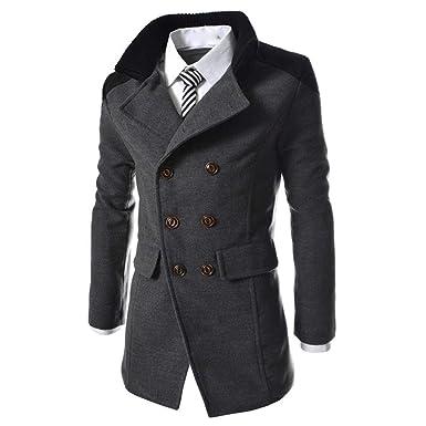 Lannister Fashion Herren Mantel Jacke Zweireiher Revers
