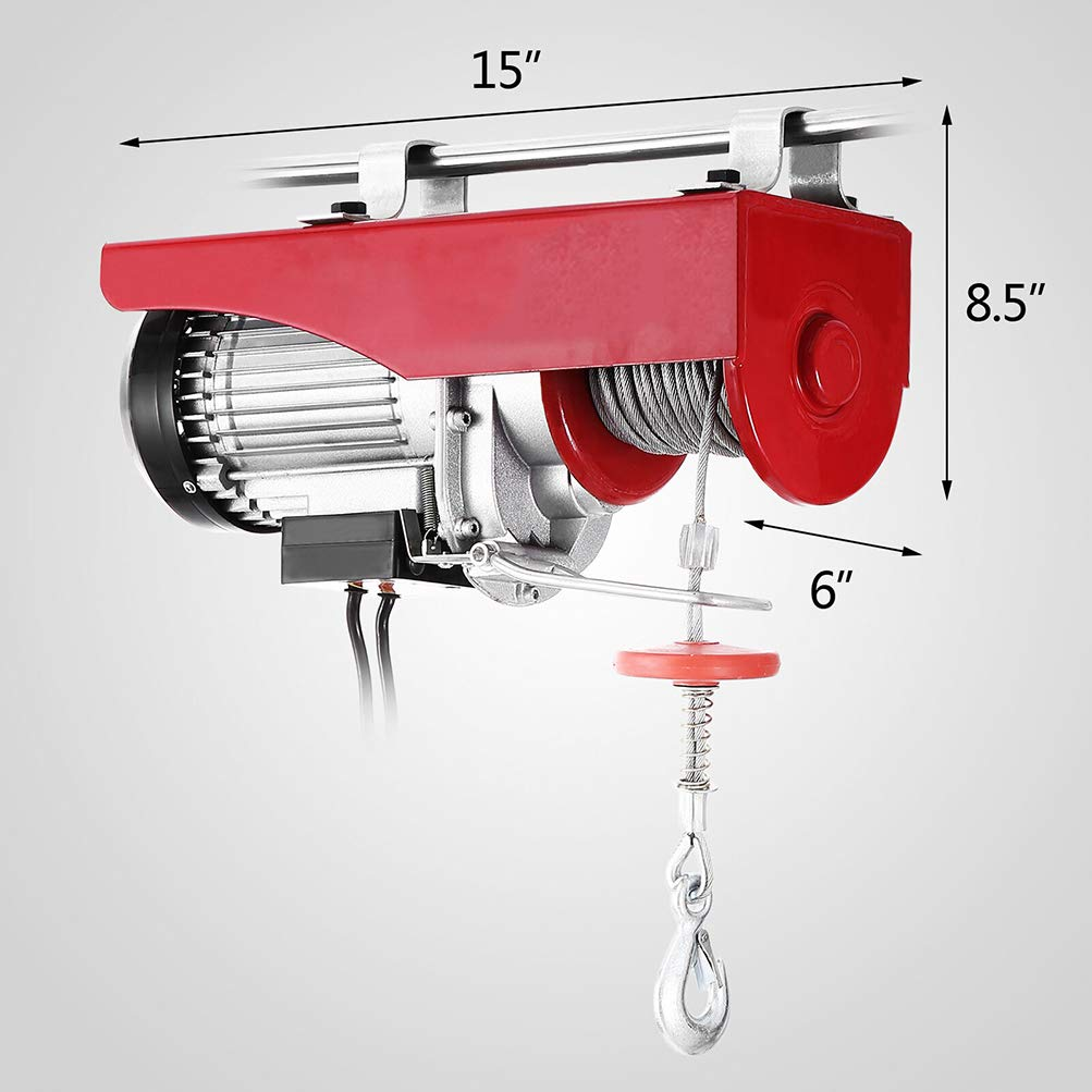 FINDAUTO Overhead Lift Electric Hoist Crane w//Wired Remote Control 1100 LB