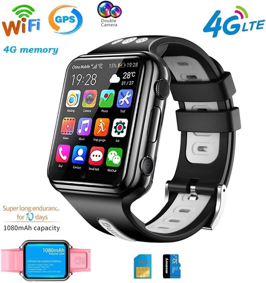 4G GPS Wifi Relojes Inteligentes Para Niños Reloj Deportivo Impermeable Para Teléfono Bluetooth Tracking Locator Despertador Chat De Voz Anti-Perdida Compatible Para Android E Ios Regalos ,Blanco