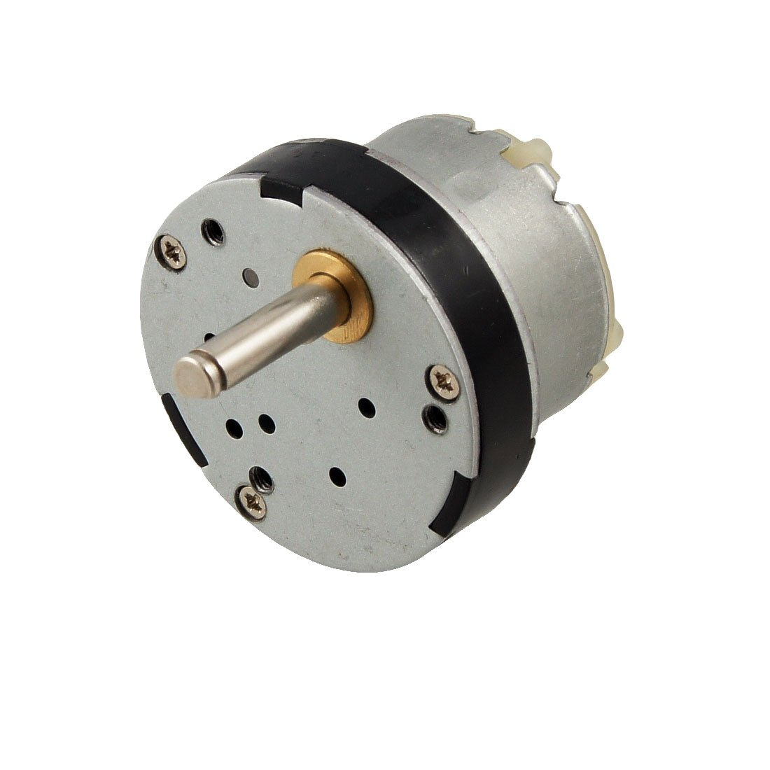 uxcell 32mm Dia Magnetic Gear Box Motor 40GB 100 RPM 50MA 6V DC Silver Tone