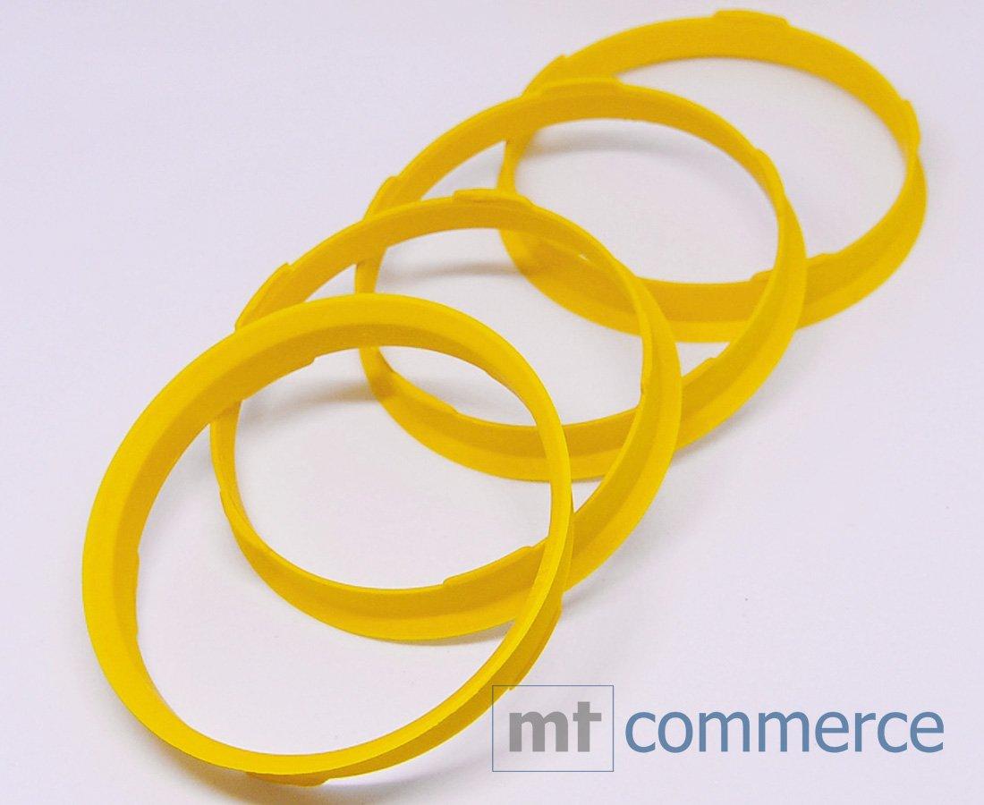 CRK 4 x Anillos 67, 0 X 65, 1 mm Amarillo Llantas de centrar fabricado en Alemania. 0X 65 1mm Amarillo Llantas de centrar fabricado en Alemania. RKC