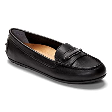 Vionic Womens Honor Ashby Loafer Black Size 5